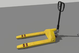3D industrial pallet trolley trucks model