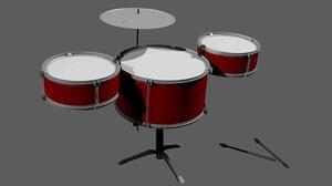 toy drum set 3D model
