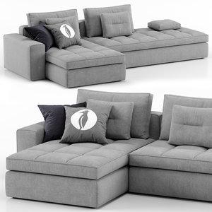 3D lounge sofa - calligaris model