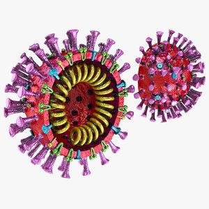 3D corona virus 2019 coronavirus