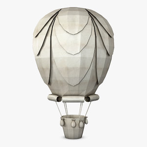 hot air balloon paper model