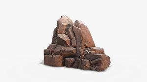 rock mossy stone model