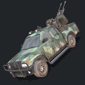 military vehicles 3D model
