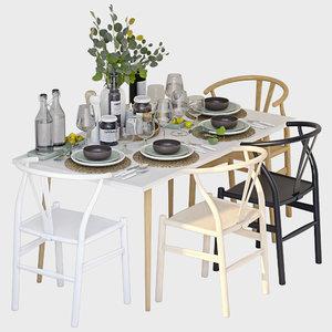 minimalist table model