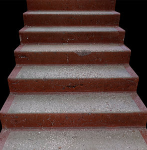 3D stairs concrete