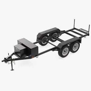 heavy duty 4 wheel 3D model