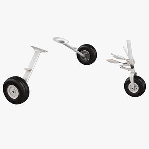 small aircraft landing gear model