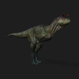 3D carnotaurus animation model
