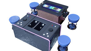rendered arcade 3D model