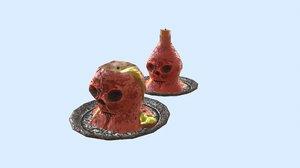 evil candle 3D model