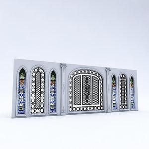 3D arabic wall panel