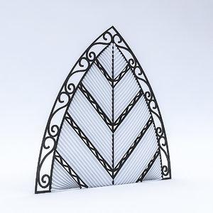 leaf wall panel model