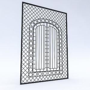 wrought iron doors windows 3D model
