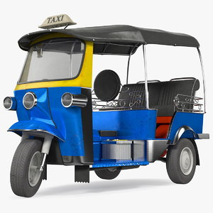 tuk taxi rigged 3D model