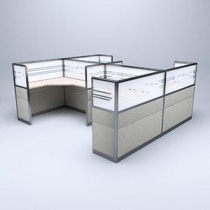 3D model cubicle office