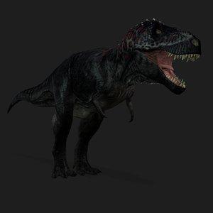 3D tyrannosaurus animation model