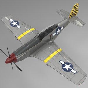 3D 11 north american p-51 mustang