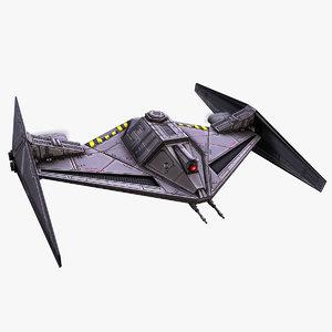 3D futuristic drone fighter model