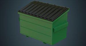 dumpster contains 3a 3D model