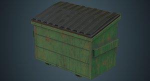 dumpster contains 3b 3D