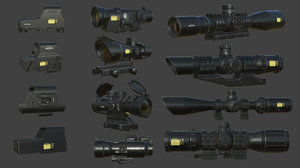 3D weapon scope pack