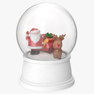 snow globe santa claus 3D model