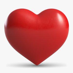 3d model heart symbol s