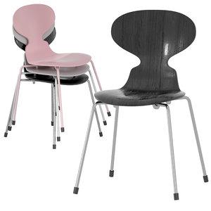 3D ant chair monochrome fritz hansen