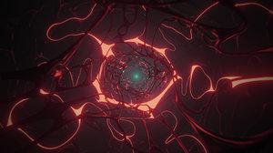 blender loop sci-fi tunnel 3D