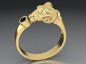 men s ring mouflon 3D model