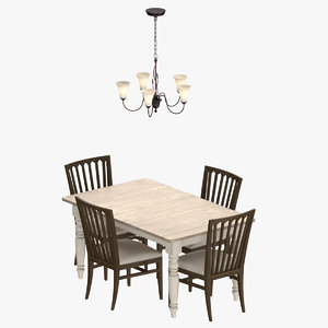 3D classical dining room set design