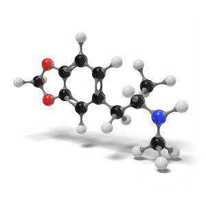 mdma molecule c11h15no2 modeled 3D model