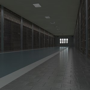 prison interior architecture 3D
