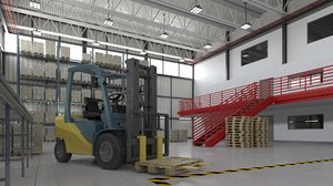 logistic warehouse 3D model