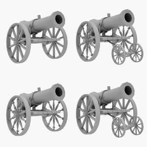 medieval cannon 3D