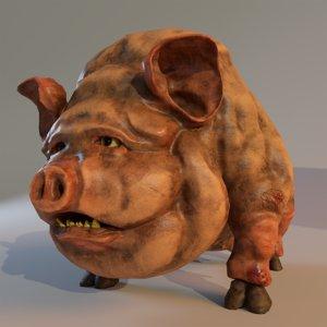 3D model piggy