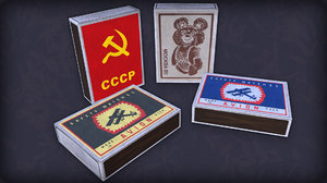 soviet matches 3D model