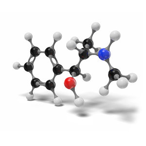 ephedrine molecule c10h15no modeled model