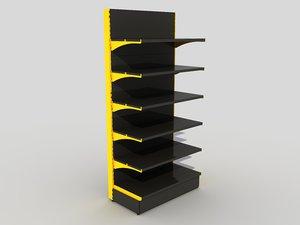 3D retail shelves rack model