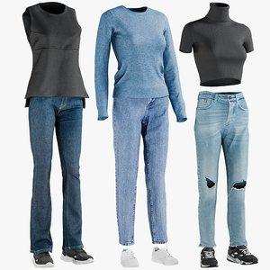 3D realistic women s clothing model