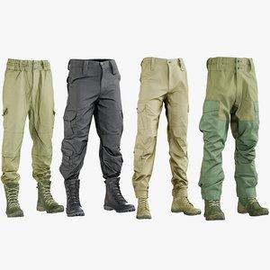 realistic men s pants 3D model