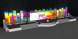 3D stage decoration special model