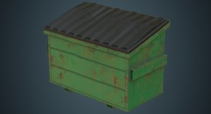 dumpster contains 3c 3D