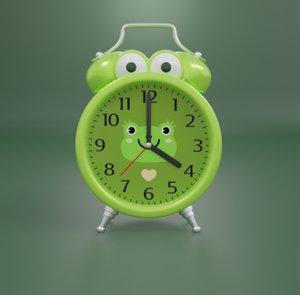 alarm clock character 3D model
