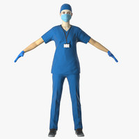 Female Nurse in PPE with Surgical Mask
