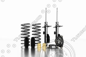 set spare parts shock absorber 3D