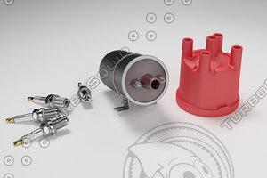 igniter coil glowplug 3D model