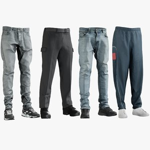 realistic men s pants 3D