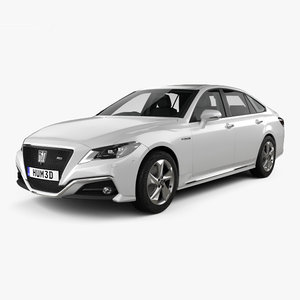 3D toyota crown rs model