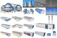 Industrial Buildings Set